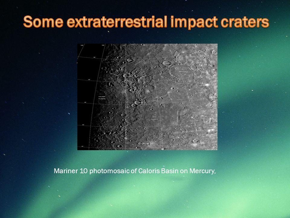 Mariner 10 photomosaic of Caloris Basin on Mercury,