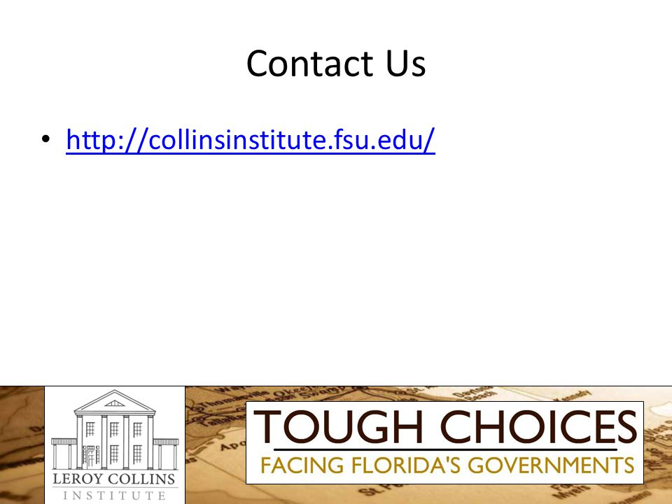 Contact Us http://collinsinstitute.fsu.edu/