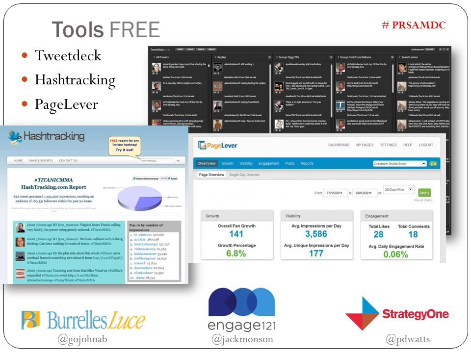 @gojohnab @jackmonson @pdwatts # PRSAMDC Tools FREE Tweetdeck Hashtracking PageLever