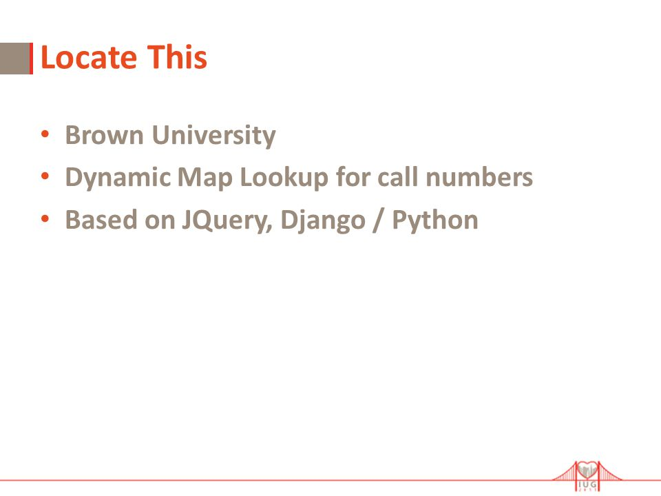 Locate This Brown University Dynamic Map Lookup for call numbers Based on JQuery, Django / Python