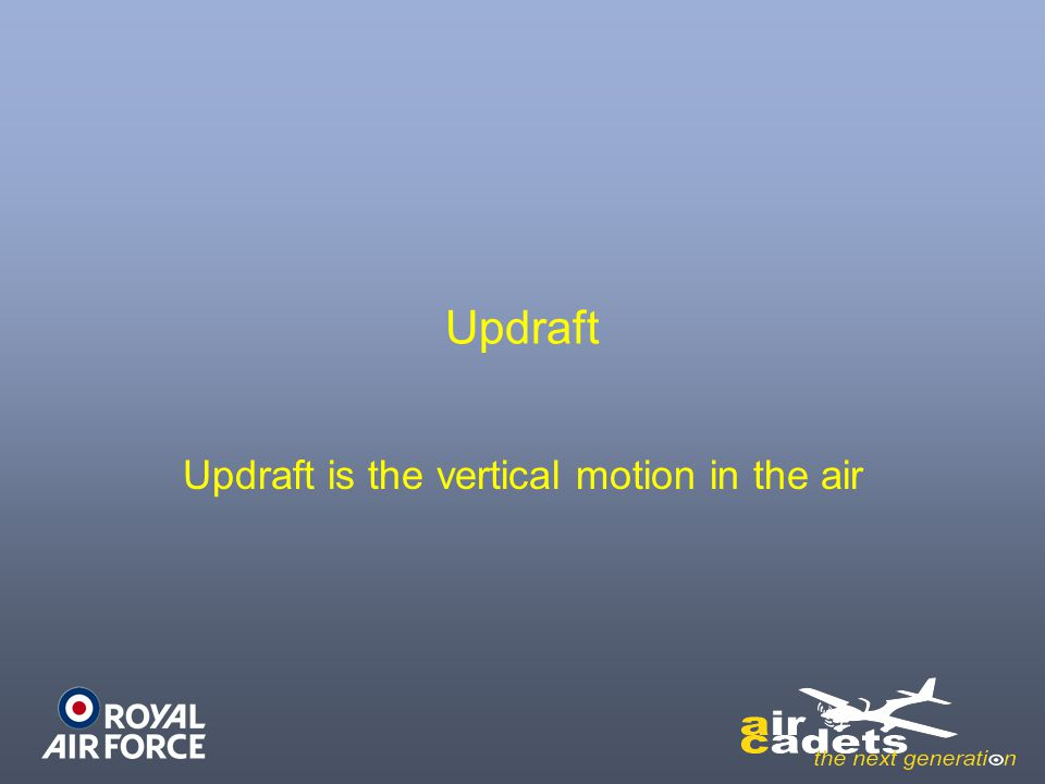 Updraft Updraft is the vertical motion in the air