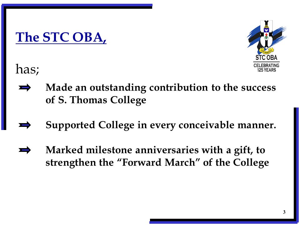 Generations of Old Thomians have made an outstanding contribution to our Nation's success .