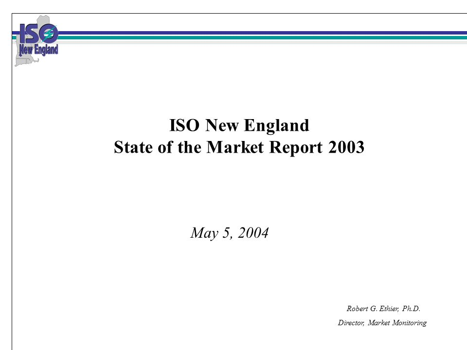 22 Other Conclusions The New England markets continued to perform competitively in 2003 with no evidence of significant economic or physical withholding.