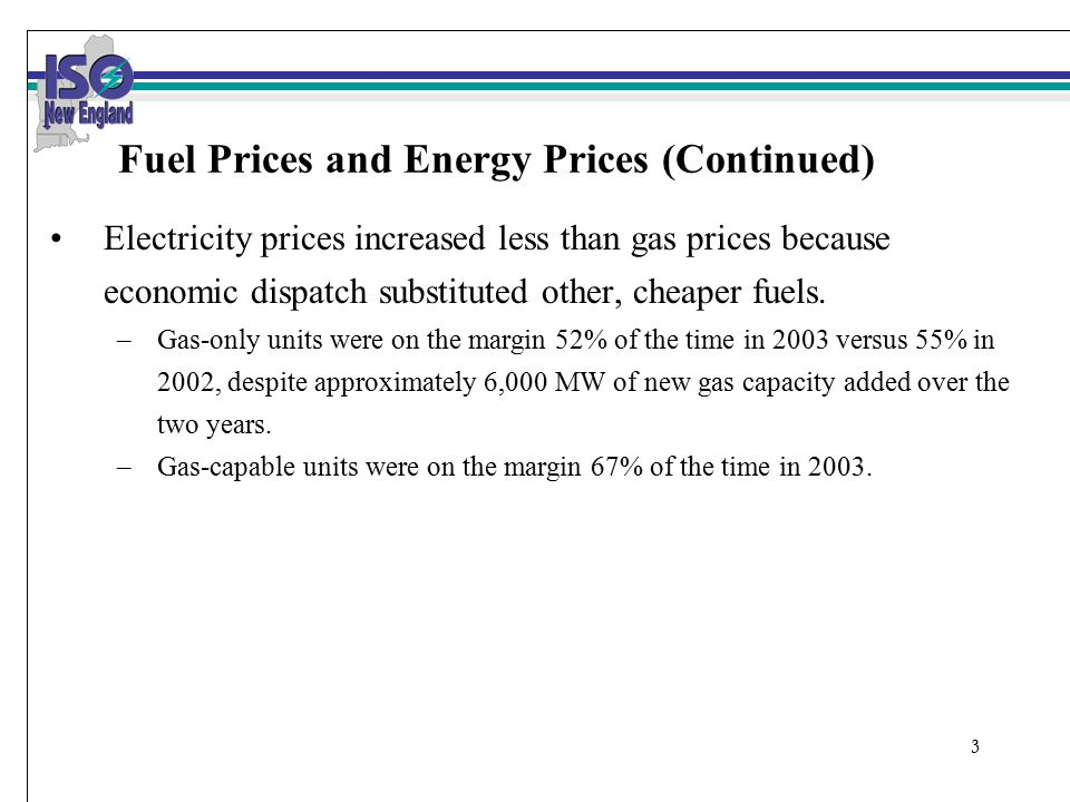 4 New England Electricity & Natural Gas Prices: 2001 - 2003 SMD Implementation