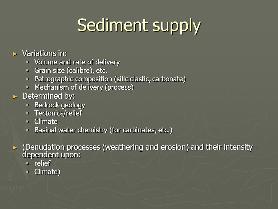 Basin morphology ► Shelf example