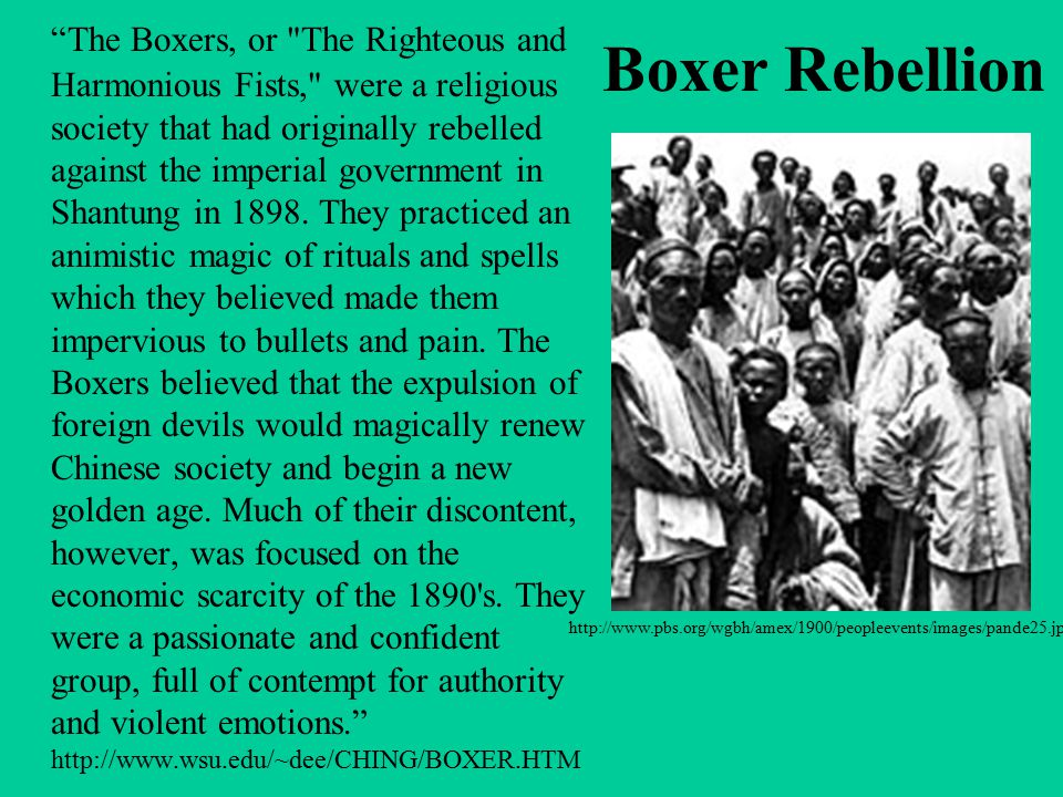 "Boxer Rebellion ""The Boxers, or"