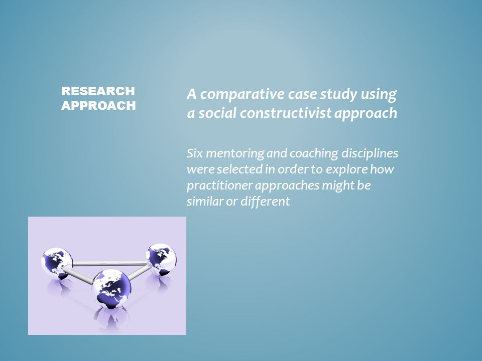 A comparative case study using a social constructivist approach Six mentoring and coaching disciplines were selected in order to explore how practitio