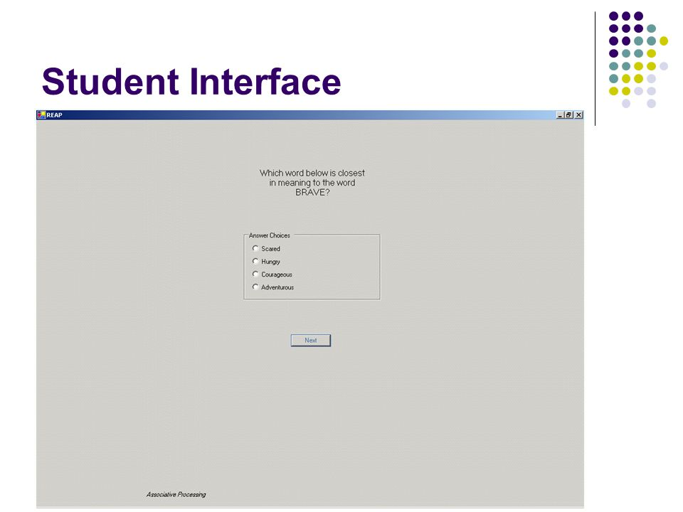 Student Interface