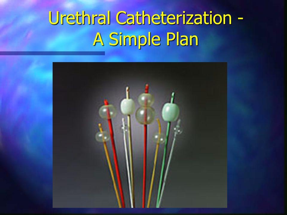 Insertion procedure Gather supplies Catheter kit Uro-Jet ® 14-16 Fr latex catheter Drainage bag, sterilization solution & sterile gloves.