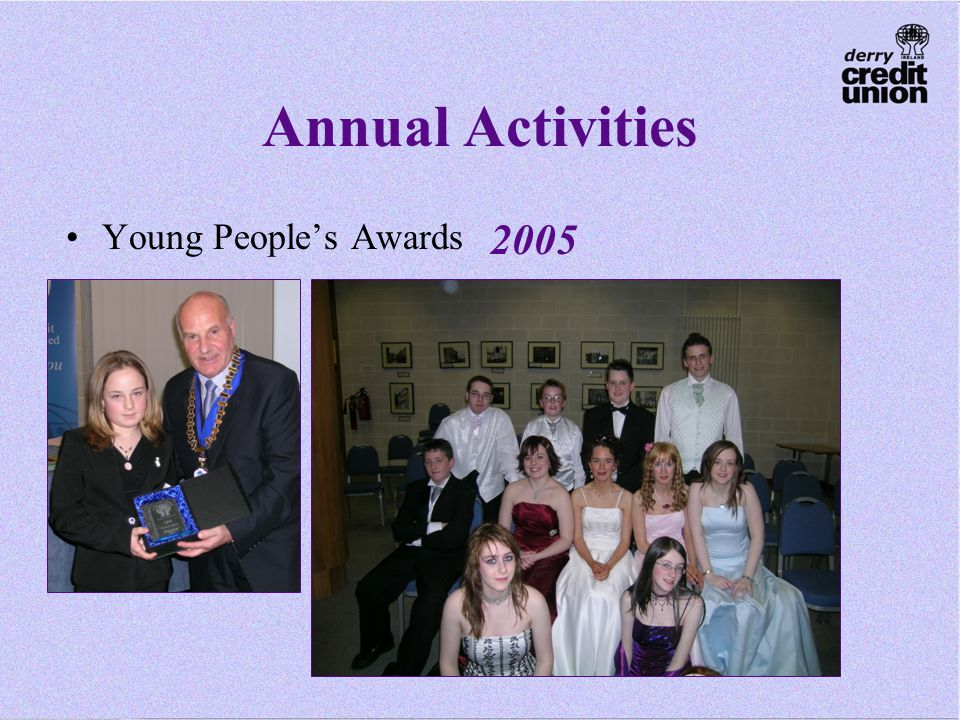 Annual Activities Young People's Awards 2005