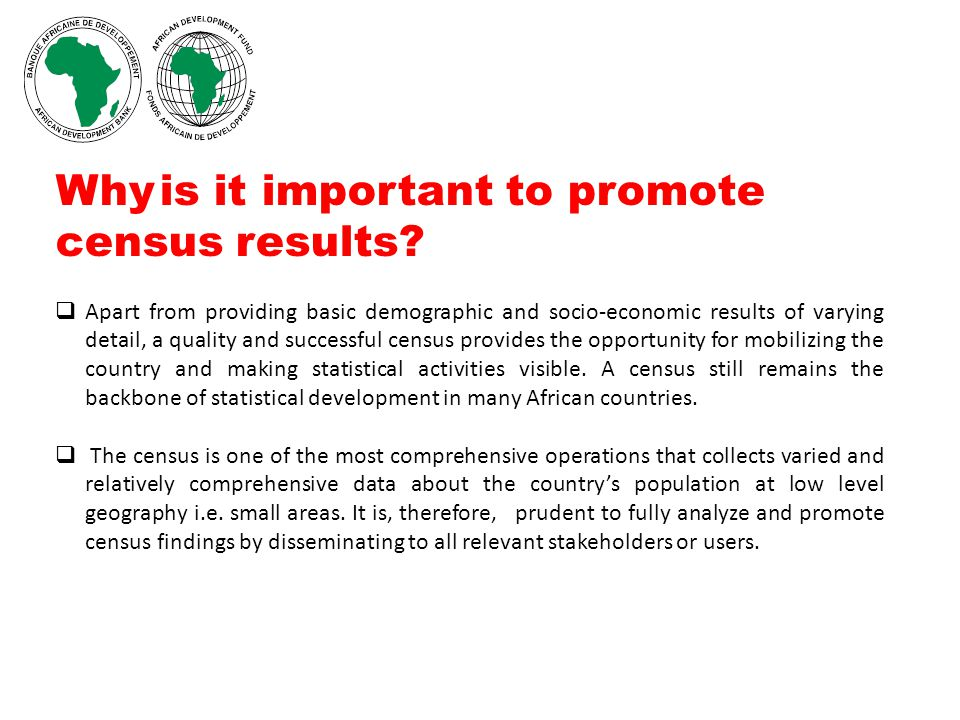 Why is it important to promote census results.
