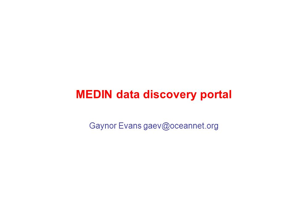 The MEDIN portal online in June 2010 a single point of access to marine data and information for users design and functionality of the user interface guided by MEDIN partners the portal held approaching 800 records when it was first released the aim is to hold 95% of the metadata holdings across the DACs by the end of 2014