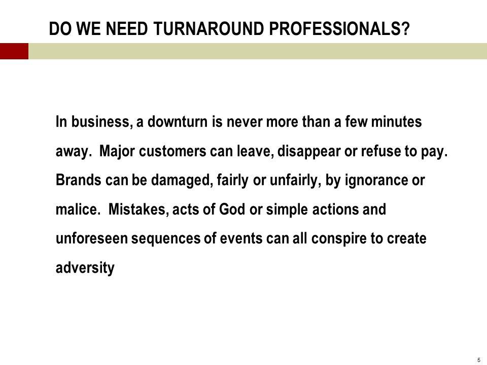 5 DO WE NEED TURNAROUND PROFESSIONALS.