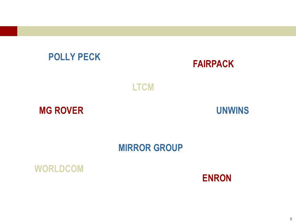 6 POLLY PECK ENRON UNWINSMG ROVER LTCM WORLDCOM MIRROR GROUP FAIRPACK