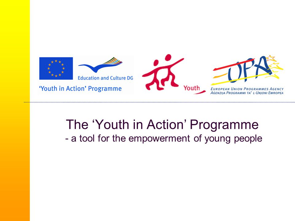 The 'Youth in Action' Programme - a tool for the empowerment of young people