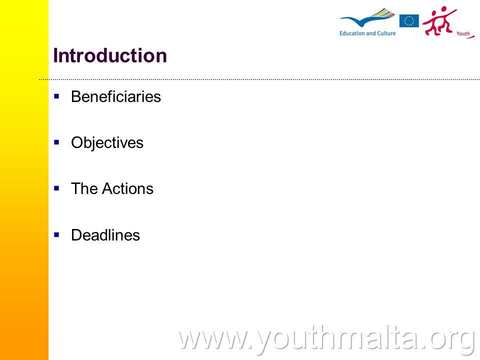 The National Agency European Union Programmes Agency (EUPA) 'Youth in Action' Programme 36, Old Mint Street, Valletta VLT 1514 – MALTA  Tel: +356 2125 5663  Fax: + 356 2558 6139  Email: yia.eupa@gov.mt  Website: www.yia.eupa.org.mt