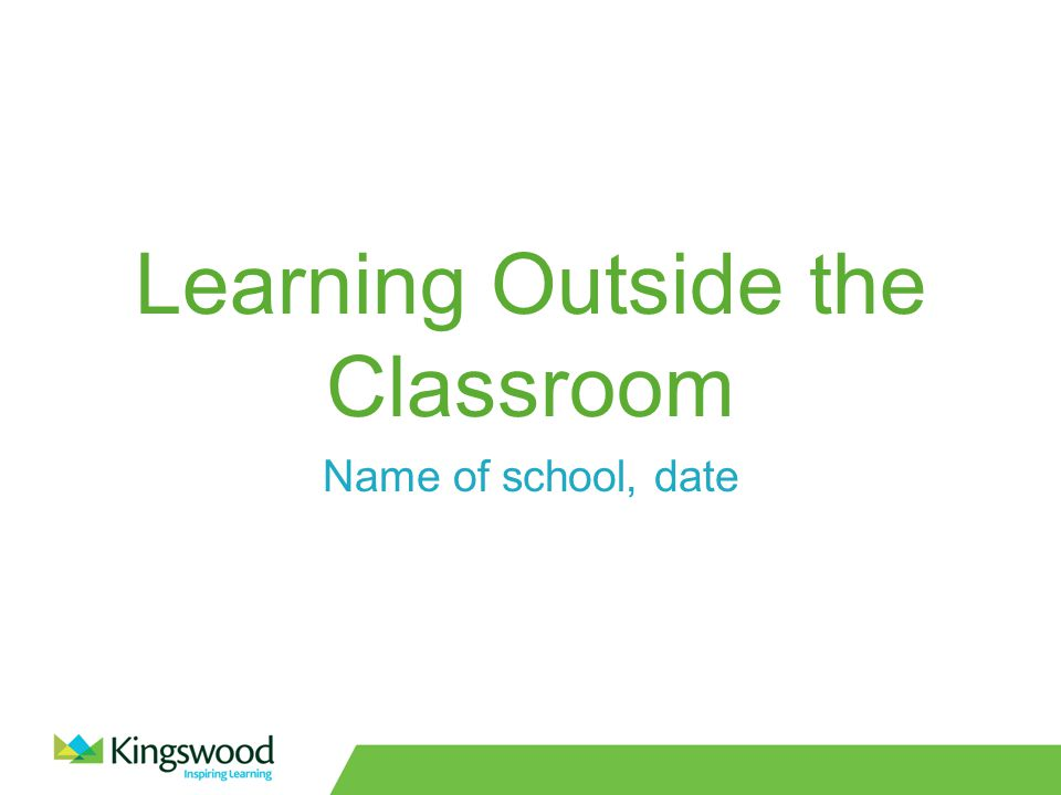 Learning Outside the Classroom Name of school, date