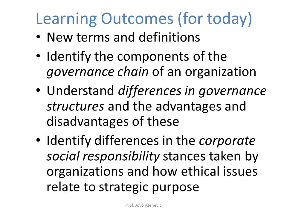 Use of Stakeholder Mapping Do actual levels of interest and power reflect corporate governance framework.