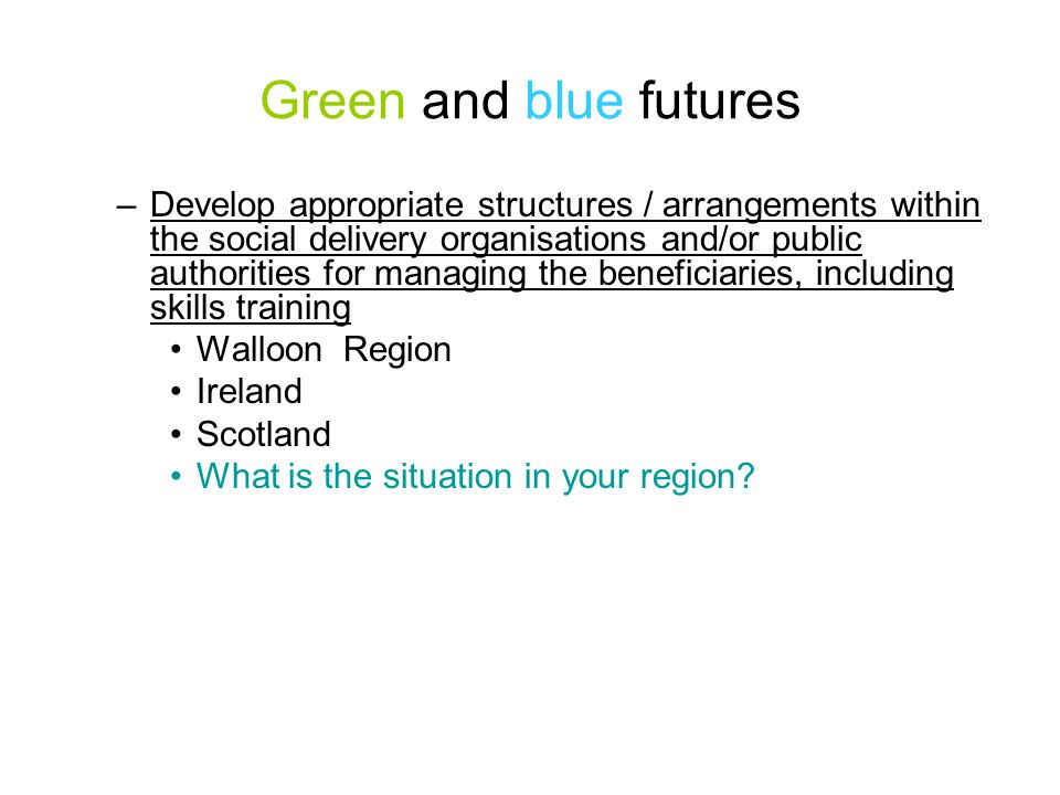 Green and blue futures Province de Hainaut