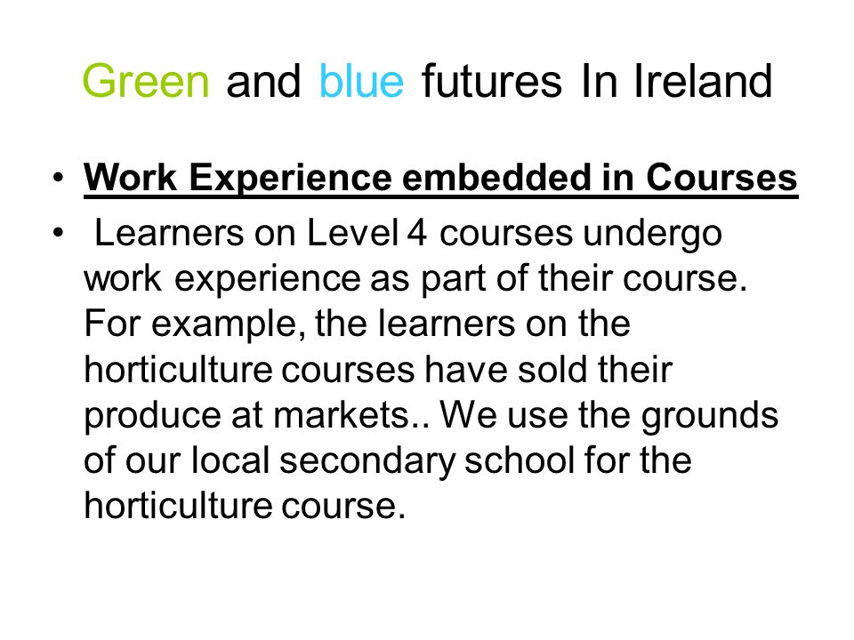 Green and blue futures Scotland