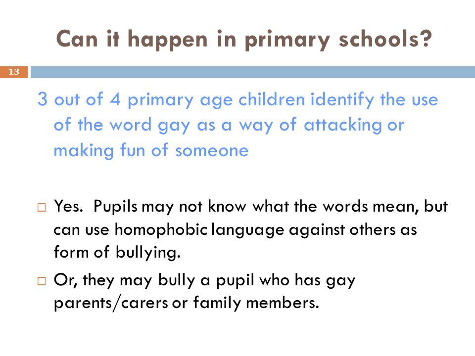 Can it happen in primary schools.