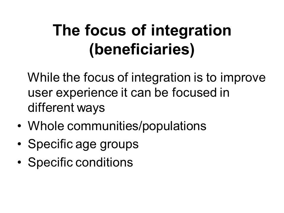 Finally integration should….
