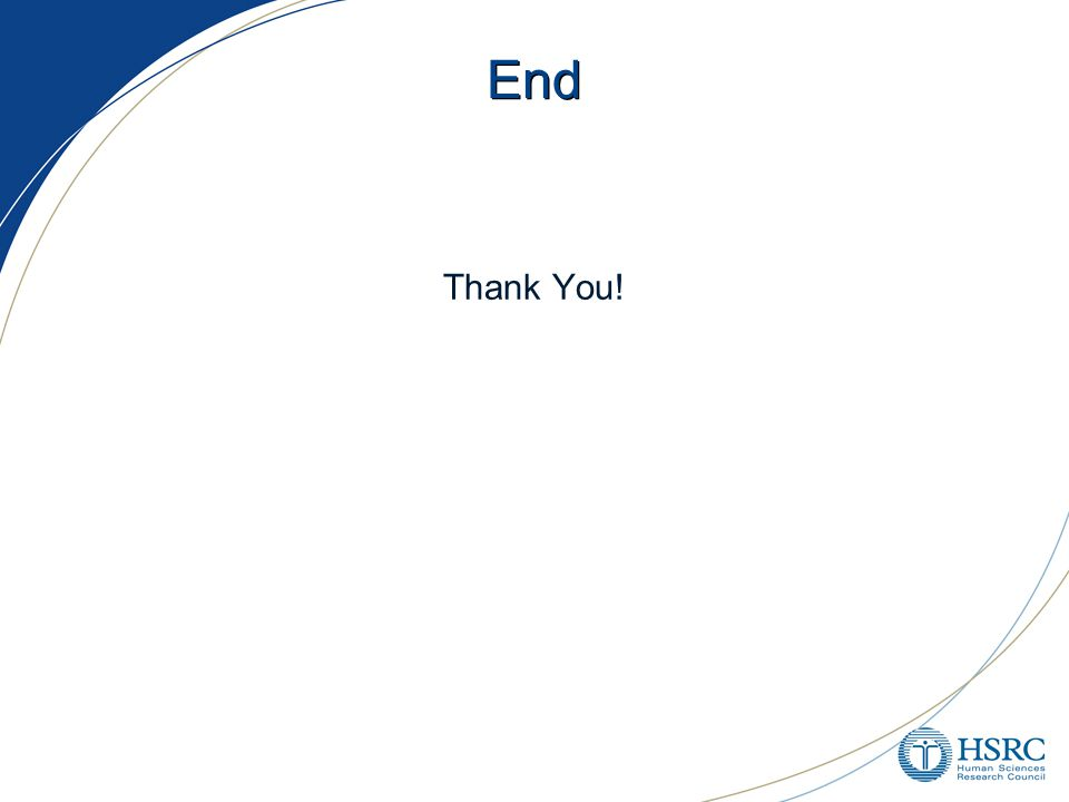 End Thank You!