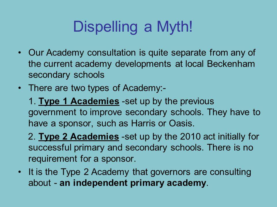 Dispelling a Myth.