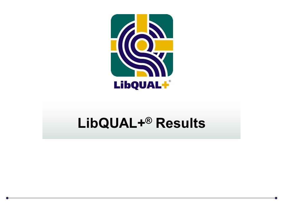 LibQUAL+ ® Results