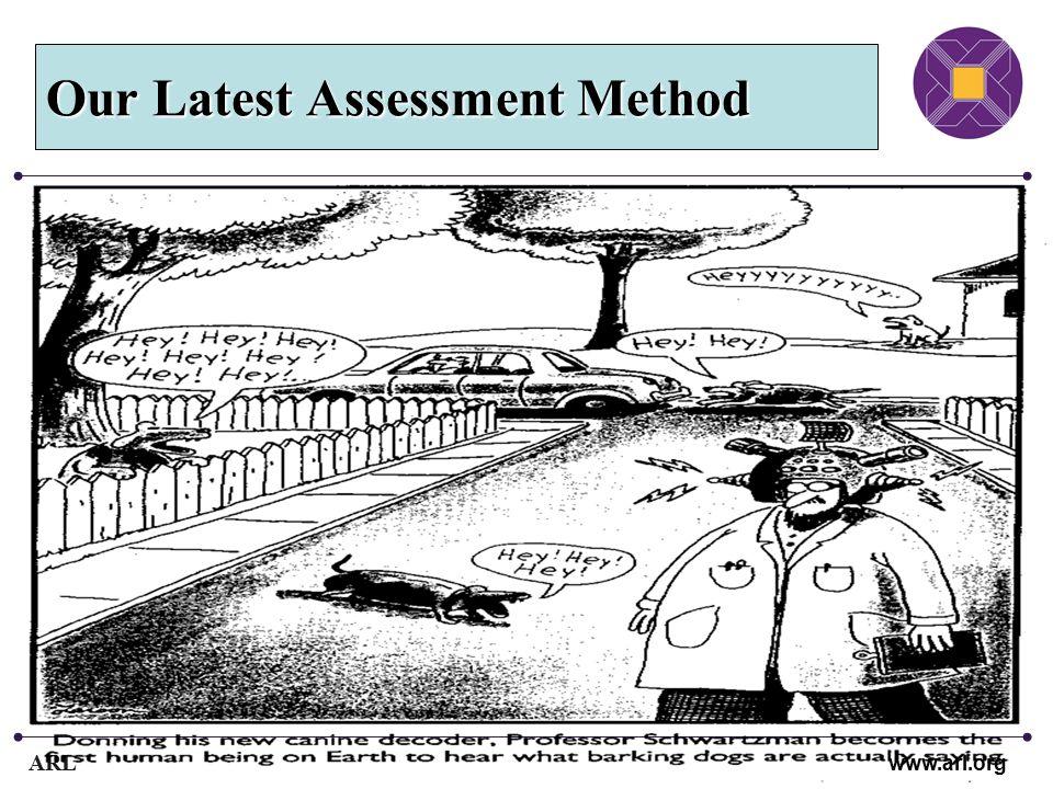 ARL www.arl.org Our Latest Assessment Method