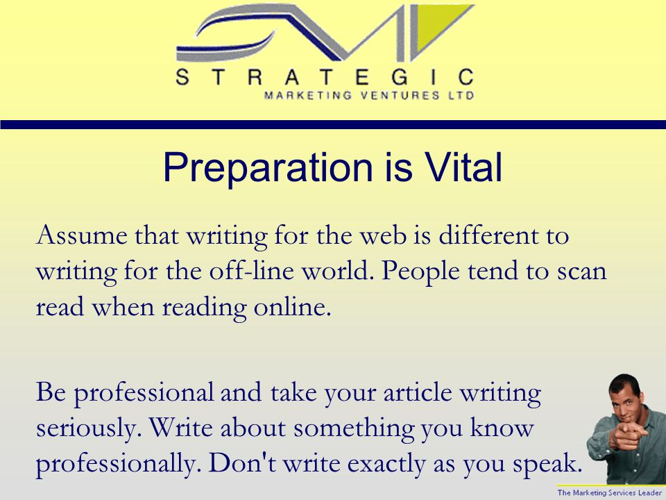 Content is Important Every Web site owner wants content and hundreds of writers want their content visible on the Web.