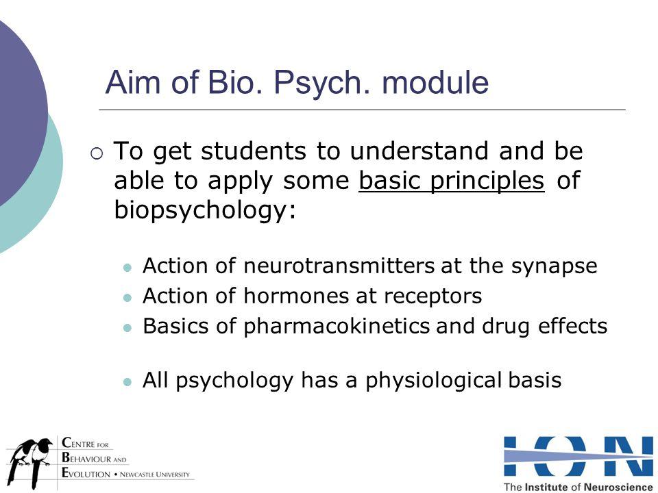 Aim of Bio. Psych.