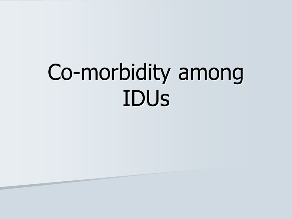 What is co-morbidity.