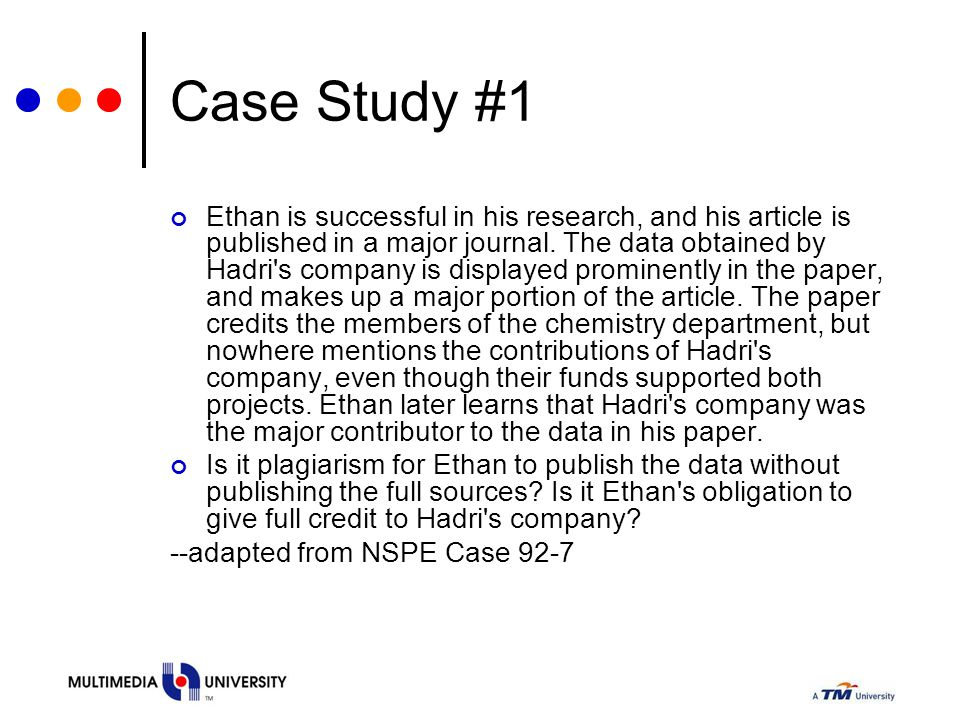 Case Study #1 Ethan is successful in his research, and his article is published in a major journal. The data obtained by Hadri's company is displayed