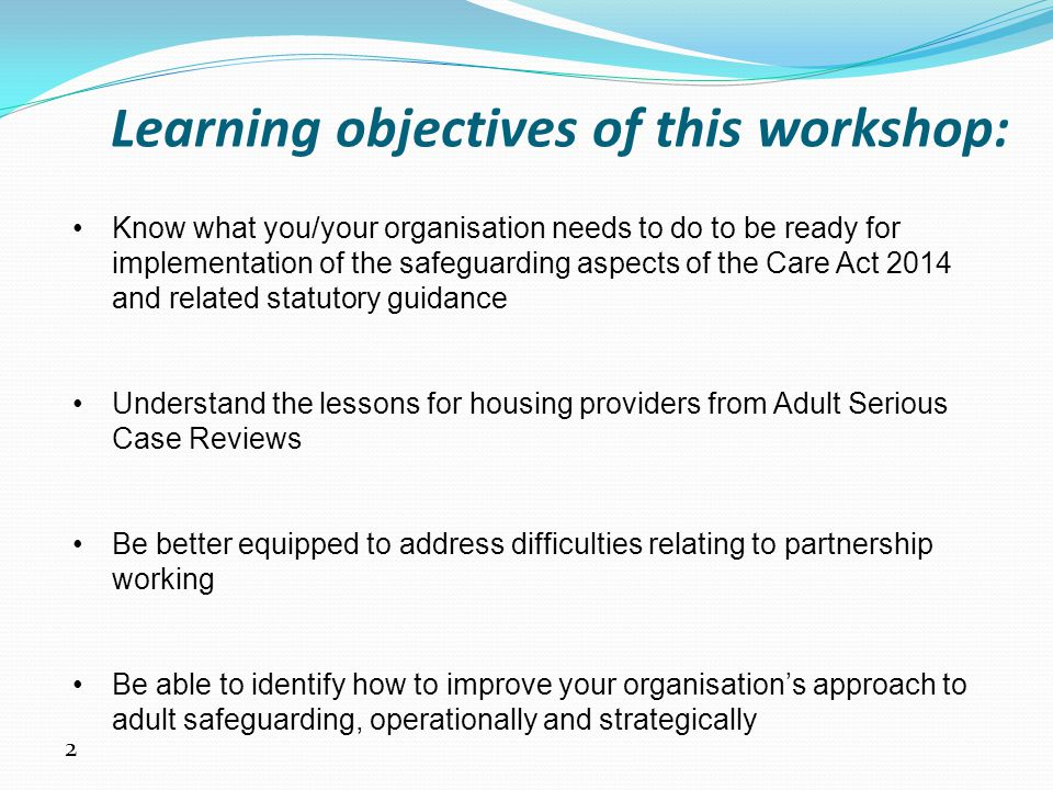 23 Summary of findings Internal lessons for housing providers: A.