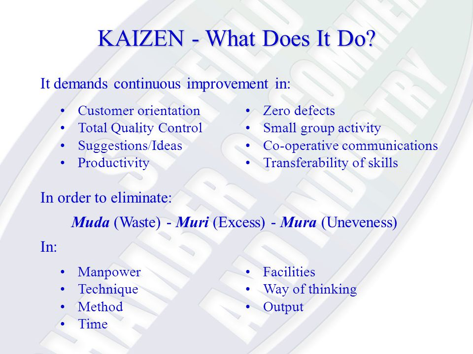 KAIZEN - What Does It Do.