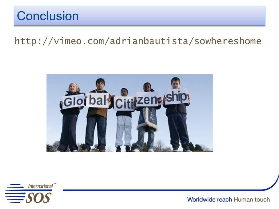 Conclusion http://vimeo.com/adrianbautista/sowhereshome