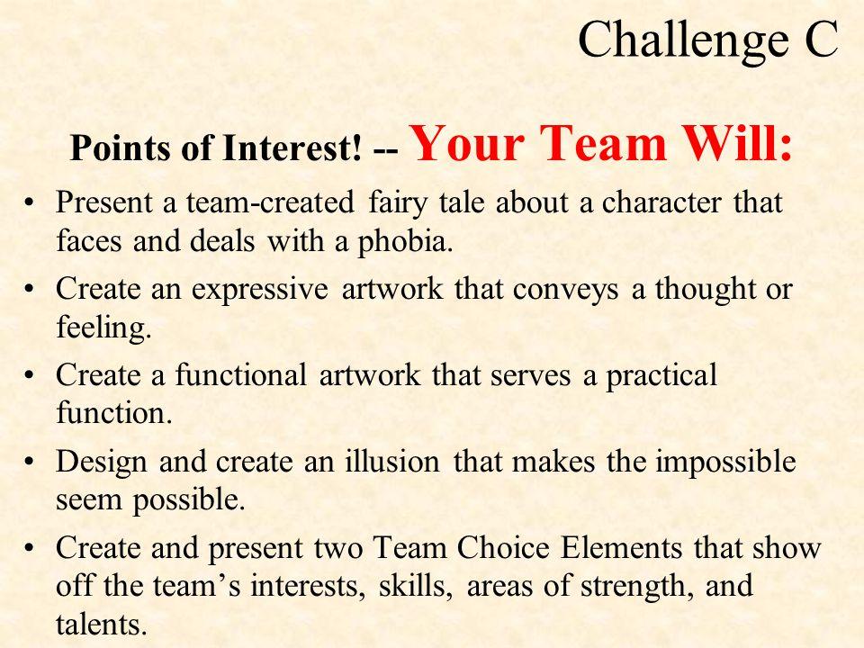 Challenge C Points of Interest.