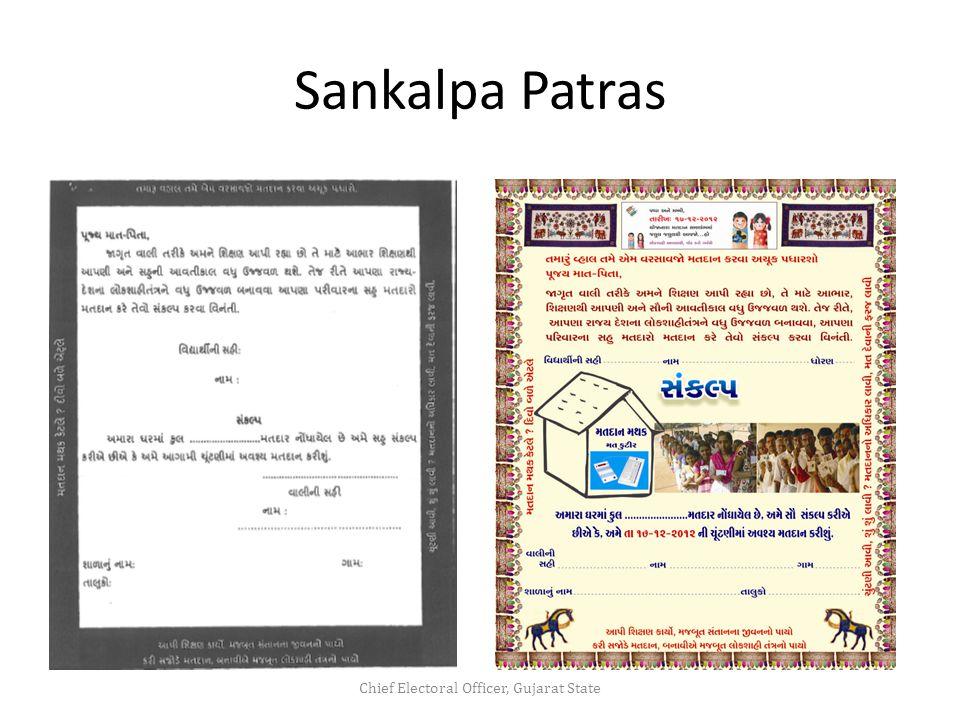 Sankalpa Patras Chief Electoral Officer, Gujarat State