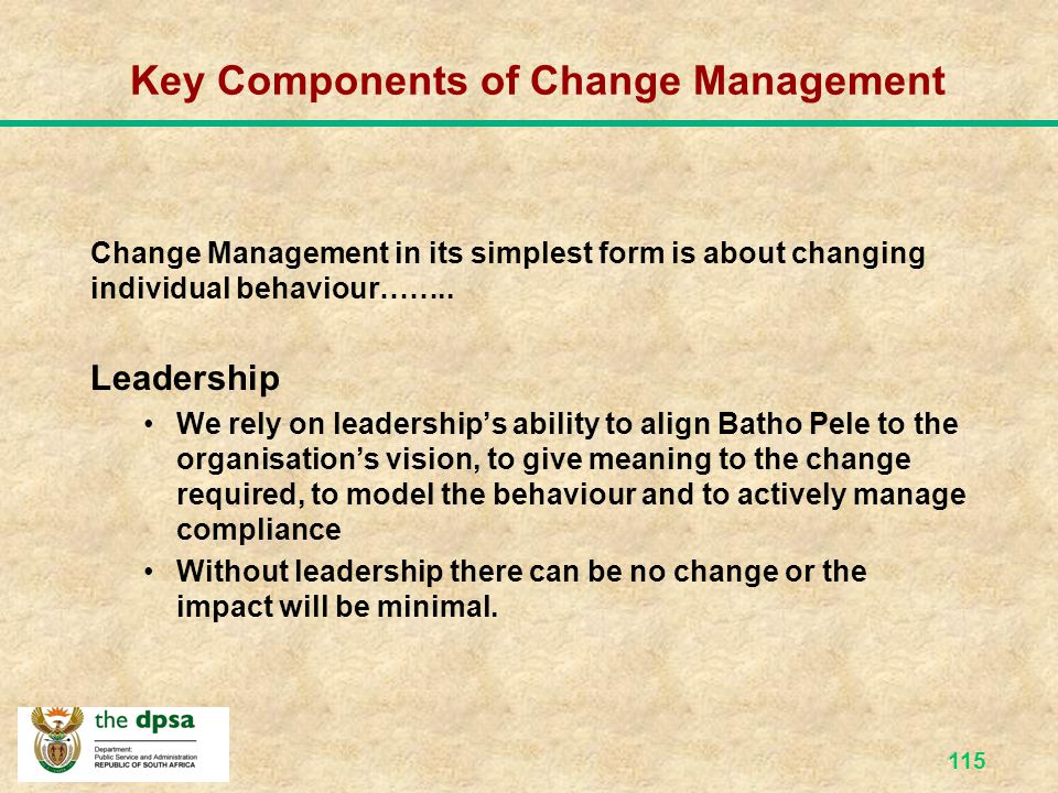 114 How change is Managed