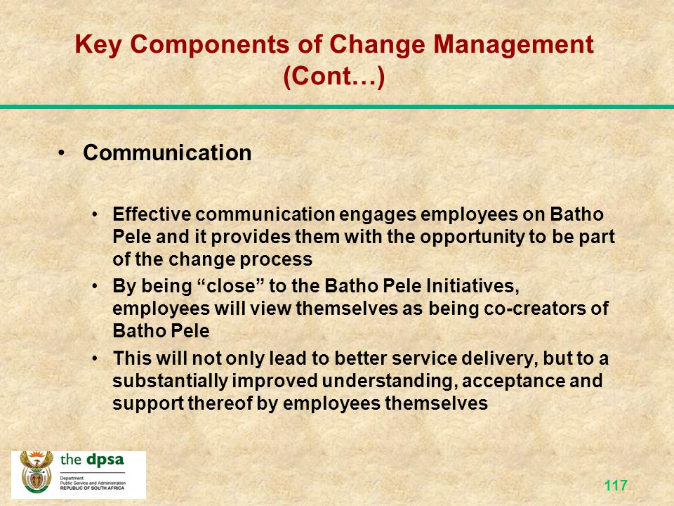 116 Common vision = Synergy Vision Dept's/Directorates