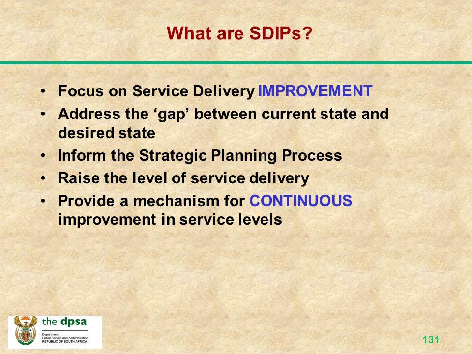 130 SDIP Template KEY SERVICE SERV BEN CURRENT STANDARD DESIRED STANDARD Quantity: Quality:XXXXXXXQuality:XXXXXX  Consultation  Access  Courtesy 
