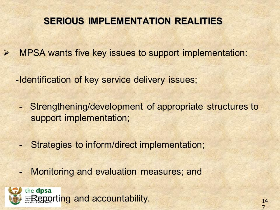 SHIFT/REFOCUS SHIFT/REFOCUS: BPIA Re-focusing of BP: –Integrated service delivery approach using BP as a vehicle. –Allocation of BP principles to prov
