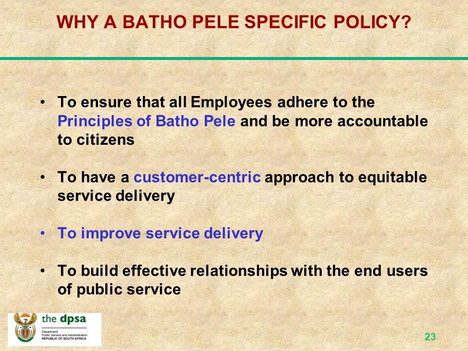 22 What is Batho Pele.