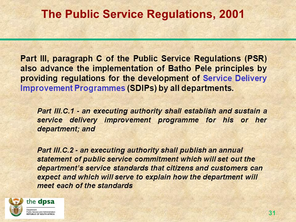 30 The Municipal Systems Act, 2000 (Act 32 of 2000) Social and economic upliftment of communities and universal access to affordable basic services.