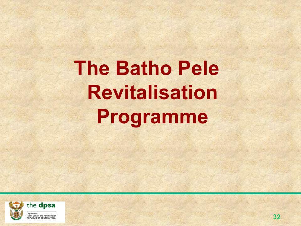 31 The Public Service Regulations, 2001 Part III, paragraph C of the Public Service Regulations (PSR) also advance the implementation of Batho Pele pr