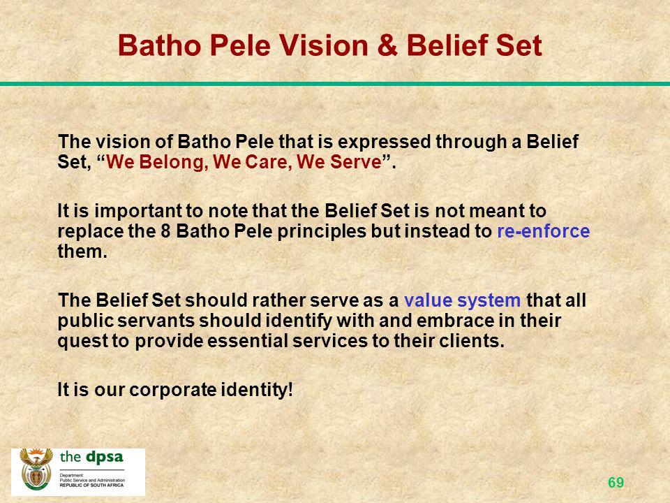 68 The Batho Pele Vision