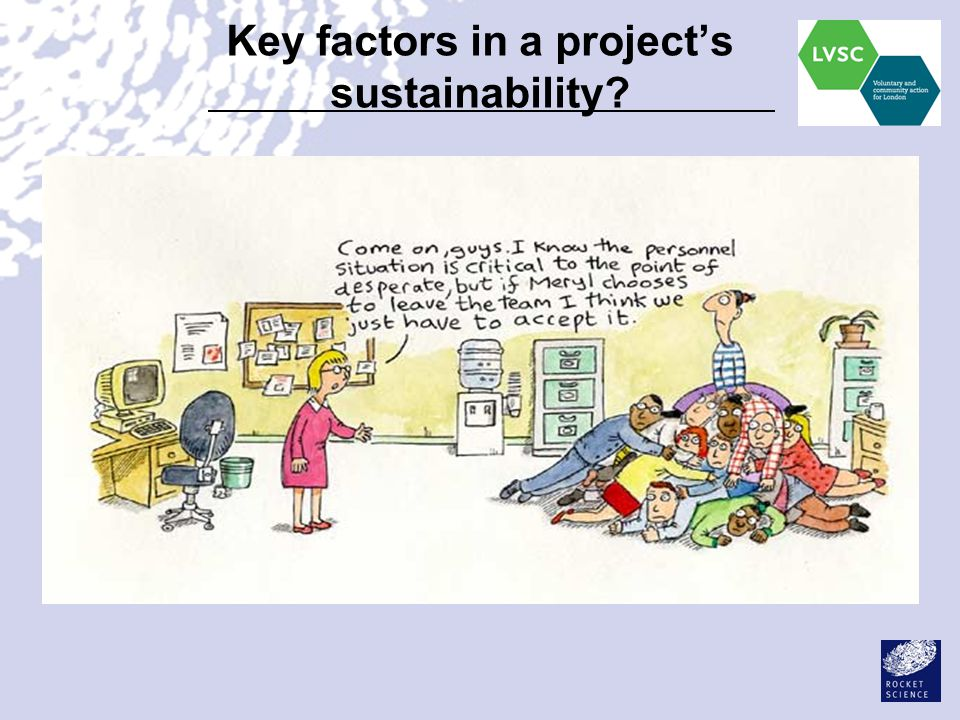 Key factors in a project's sustainability?