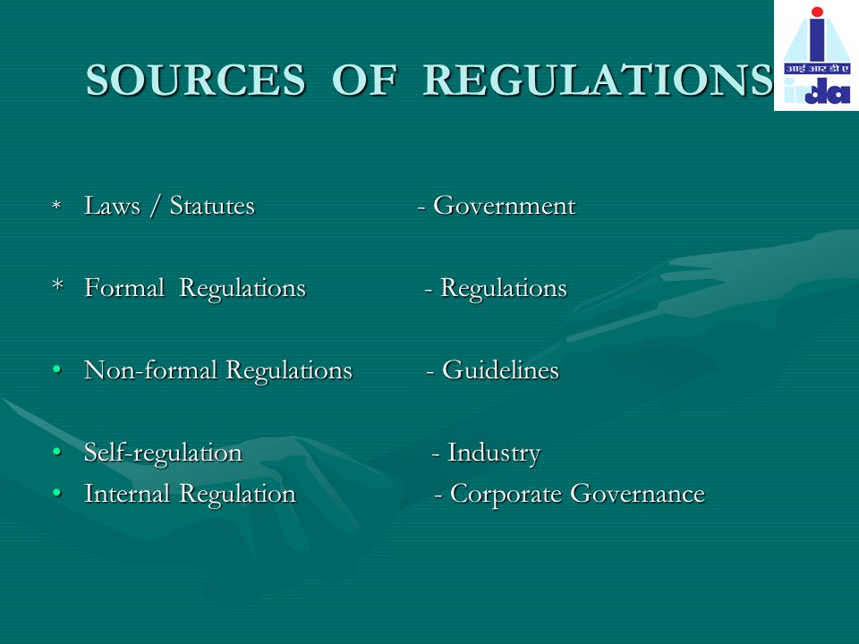 LAW MAKES GENERAL FRAMEWORK FOR THE INDUSTRYMAKES GENERAL FRAMEWORK FOR THE INDUSTRY EG.