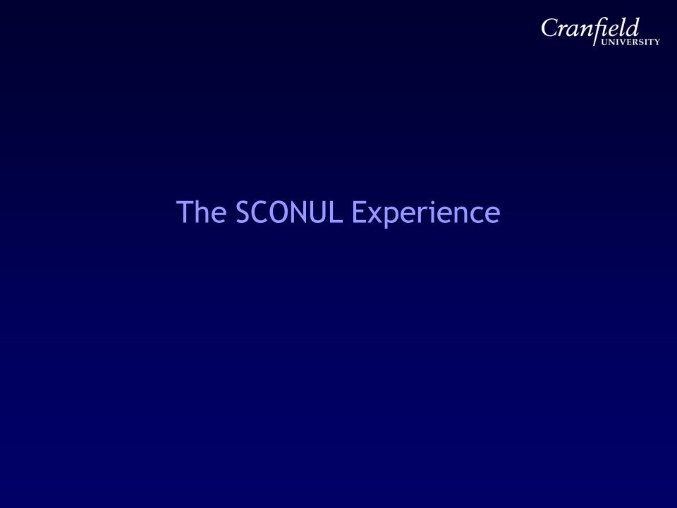 The SCONUL Experience